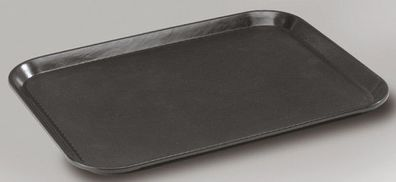 Tablett Kellnertablett Serviertablett Ø 35,5 cm mit Griffmulden Gastlando