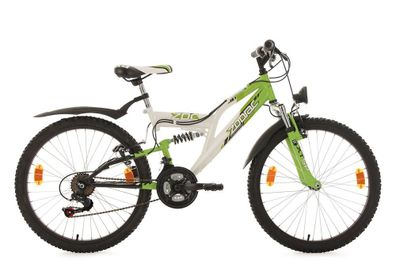 Mountainbike Hardtail 24/'/' Phalanx Kinder MTB schwarz-weiß-rot RH 38 cm 133K