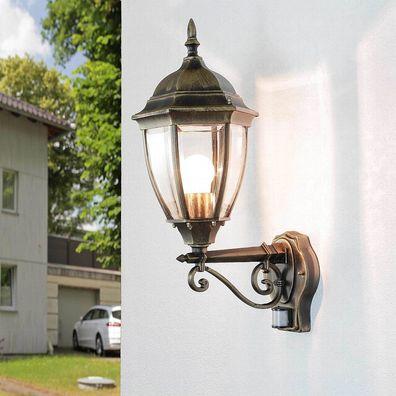 Klassische Wandleuchte Garten Antik Aussen Wand Leuchten Hof Lampen schwarz//gold
