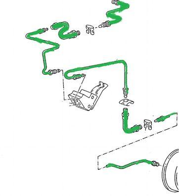 Bremsleitung 600 mm Lupo Vorderrad links