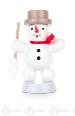 Weihnachtliche Miniatur Schneemann auf Ski natur  BxHxT 4 cmx8 cmx3 cm NEU