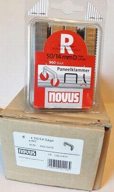 Klammer 11//6  mm  12 000 Stück    Novus  10,6x 1,25 mm Tacker 10x 1200