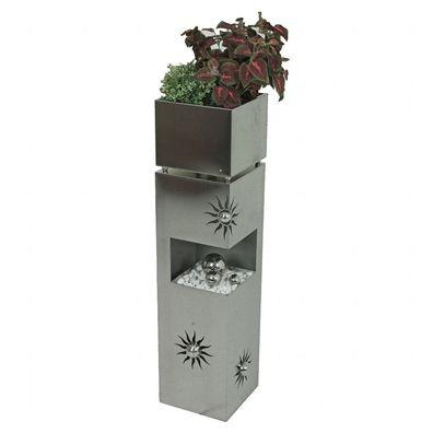 Blumenständer Blumen Bank Regal Pflanz Treppe Pflanzsäule  Weiss Shabby Vintage