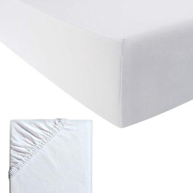 Fein-Jersey Spannbetttuch Bettlaken für Wasser-und Boxspringbetten Grau100x200cm