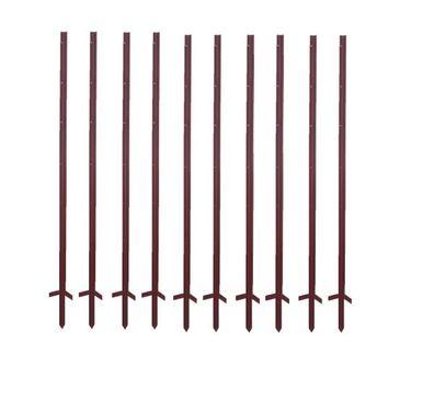 50 Splintisolatoren Stahlpfahl 3mm Isolator 20 Pfähle 115 cm Winkelstahlpfahl