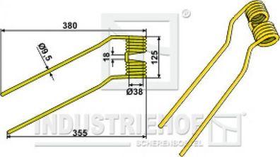 515 x 105 x 9,5 mm  für Kuhn Geräte Giroheuerzinken Silber Farbe L x B x S