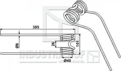 B .. Farbe Beige Kreiselheuerzinken 370-115-9 mm  Ausführung links für Claas