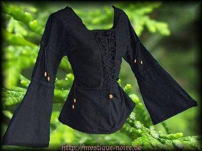 Romantische Mieder Bluse Modesty grün Gothic Mittelalter Barock 38-44