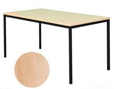 Schreibtisch Besprechungstisch Büromöbel Verkaufstisch 160x60 Ahorn-Dekor 331072