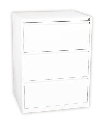 Profi Stahl Büro Hängeregistratur Schrank Bürocontainer 2 Schübe schwarz 561229