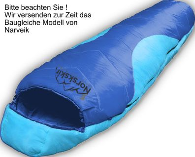 Active 5 Blau//Grün Neu McKinley Kinder Mumien Schlafsack Jr
