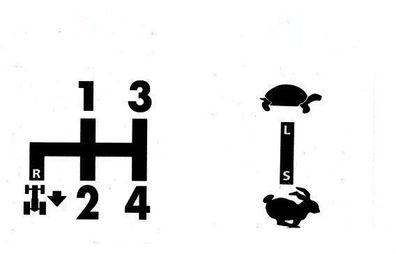 9+10 Deutz Schaltschema D3006 Baureihe Aufkleber Sticker Label .