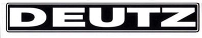 Deutz Aufkleber Kotflügel Baureihe D6007 Logo Emblem Sticker .