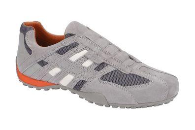 Geox Respira Uomo Snake U4207L C1006 Herren Sneakers Halbschuhe Slipper Grey