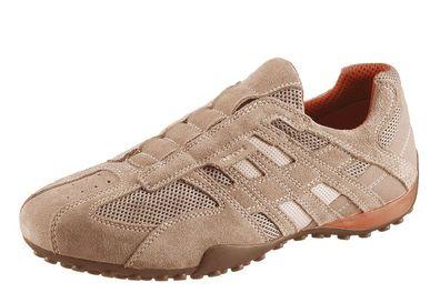 Geox Respira Uomo Snake U4207L C0845 Herren Sneakers Halbschuhe Slipper Beige