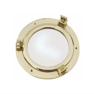 Aluminium vernickelt Ø 28 cm Bullauge mit Spiegel G4361 Bullaugenspiegel