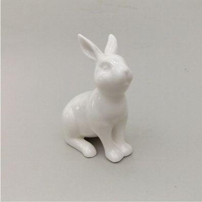 Deko-Hase Keramik grau Deko-Tier H 10,5 cm Hase Kaninchen Oster-Deko Deko-Figur