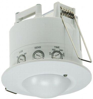 6m Detektion weiß Decken-Bewegungsmelder Flat IR LED geeignet Fernbedienung