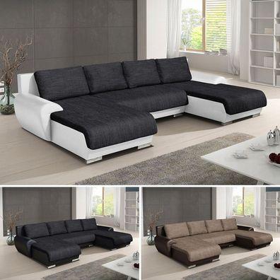 Wohnlandschaft Eckcouch Ecksofa Otis Big Sofa Couch Mit Schlaffunktion U Form