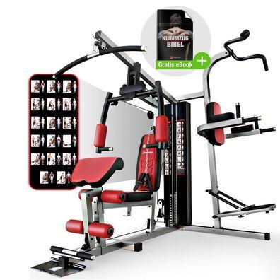 Hop-Sport Hantelbank Kraftstation mit Lang /& Kurzhantel Gewichte 50kg bis 130kg