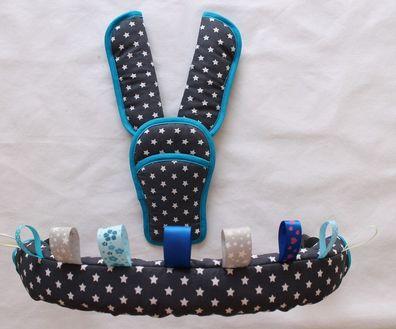 Bügelbezug mit passenden Gurtpolstern und Schnallenpolster