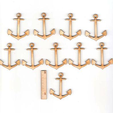 Messing vernickelt 13 cm Admiralitätsanker Andenken Anker Stockanker