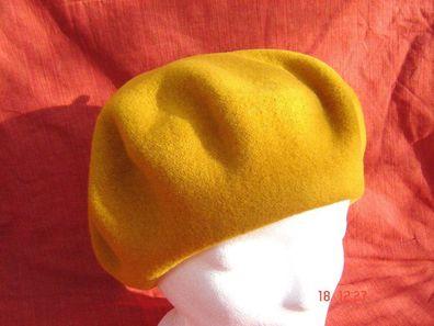 Baskenmütze Damenmütze klassische Baske weiche Wolle Walk  naturweiß