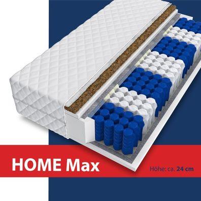 NEU Matratze HOME MAX 24cm 7 Zonen 160x200 KOKOS Premium Taschenfederkern H3 H4