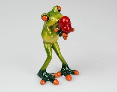 768438 Krokodil Figur auf Liegestuhl 19x14cm aus Kunststein m witzigen Details