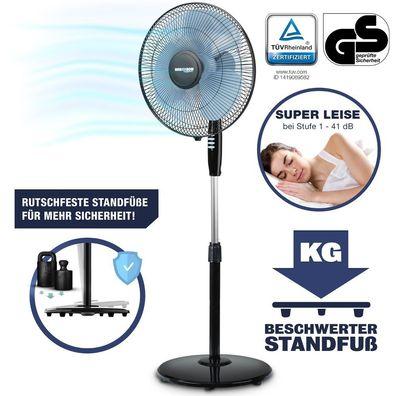 Stand Ventilatoren 45 Watt schwenkbar FERNBEDIENUNG höhenverstellbar Big Light
