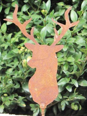 Edelrost Hexe zum Schrauben Garten Tischdekoration Basteln Bausatz Holz Metall