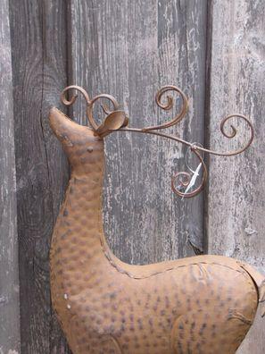 Edelrost Hirsch Sven 60cm Jäger Rentier Weihnachtsdeko Rost Wildtiere Gartendeko