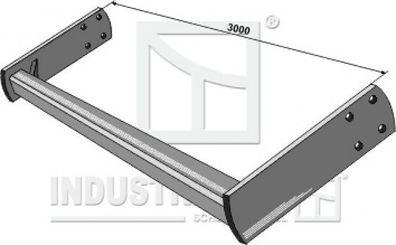 Strernrohr Profilrohr L.1000mm 61 x 47 x 4,3 mm Gelenkwelle,Zapfwelle  RUG510