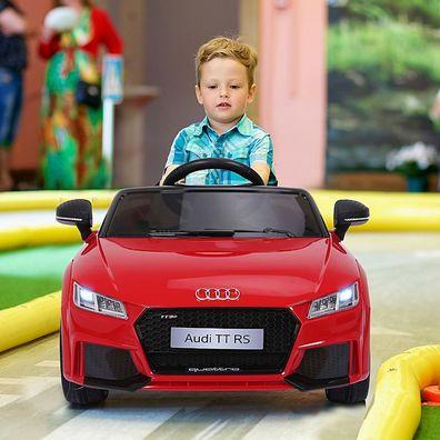 HOMCOM® Kinderfahrzeug Fernbedienung Elektroauto Audi TT RS MP3 3–8 Jahre PP Rot