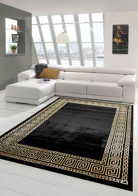 Gr/össe:60x100 Marmor Optik Kurzflor m Paco Home Wohnzimmer Teppich Orient Muster u Klassisches Design Farbe:Silber