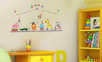 Children S Home Furniture Wandsticker Kinderzimmer Tiere Reise Zug Zirkustiere Manege Akrobaten Wandtattoo Home Furniture Diy Breadcrumbs Ie