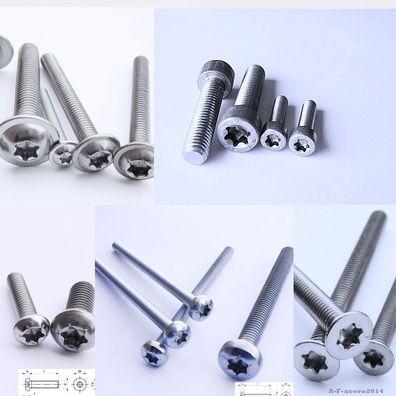 Blechschrauben Zylinderkopf Art9051 Edelstahl VA ISK mit Kopf nach DIN 912