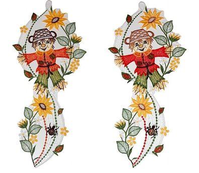 Sonnenfänger Plauener Spitze Fensterbild Kristall Spitzenbild Blume Feng Shui