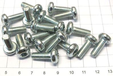 verzinkt Schraube Lagerauflösung S006-50 50 St M4 x 90 mm Torx Teilgew