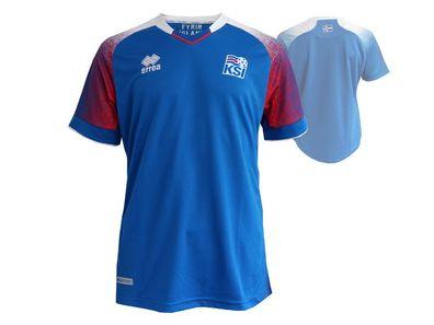 Errea Island Home Fußball Jersey blau Fussball WM 2018 Trikot KSI Shirt S XXL