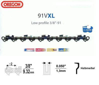 """Sägekette 3//8/"""" x 1,3 x 30-80 TG für Längstschnitte Oregon-91R Halbmeißel"""