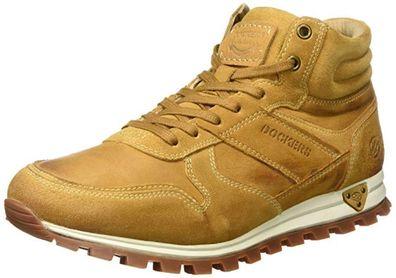 Dockers by Gerli 41JF105 Herren Hohe Sneaker Stiefel Leder Boots Golden Tan
