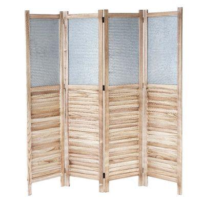 weiß Raumteiler Raumtrenner Spanische Wand Trennwand Paravent Weide 170x120