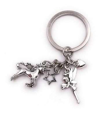 Schlüsselanhänger Krone Durchsichtig König Kopf Bedeckung Silber Metall Anhänger