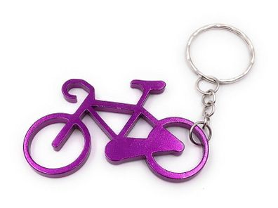 Schlüsselanhänger Fahrrad Grün Flach Metall Anhänger Charm