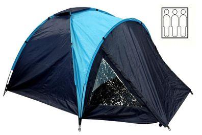 Kuppelzelt Camping Outdoor Zelt Dunlop Zelte f/ür 2-4 Personen Blau//Grau