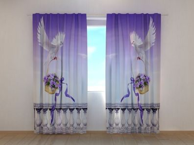 "Fotogardinen Motiv /""Planeten/"" Fotovorhang Curtain Vorhang Gardinen 3D Fotodruck"