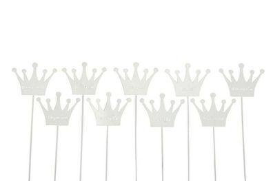 9x Kräuterschilder Kräuterstecker Etikett Metall rost Petersilie Oregano