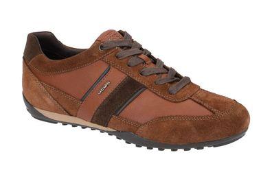 Geox Respira Herren U Wells C Low Top Sneaker Schnürer Halbschuhe U52T5C Brown