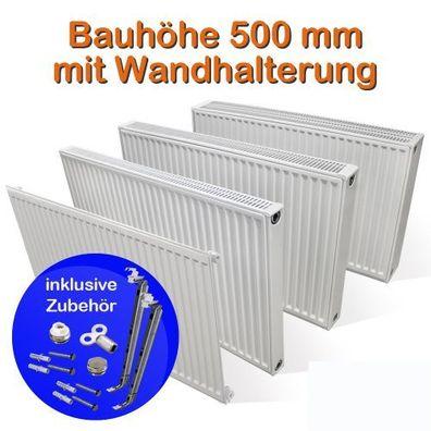 Buderus Logatrend Kompakt Heizkörper Bauhöhe 400 x BL 400-3000mm inkl Zubehör